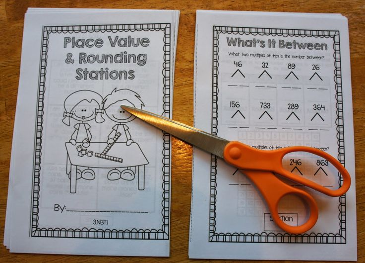 Hands-On Math-FREE Place Value and Rounding Booklet