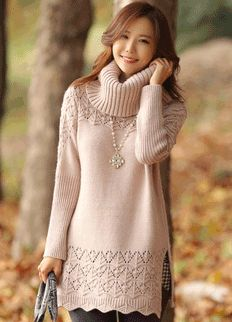 Cozy Knit Sweater from Styleonme.  Korean Fashion, Women Fashion, Feminine Look, Classy Look, Office Look, Lovely, Romantic, High Quality, Gorgeous Look, F/W 2014,Style On Me, Louis Angel, Winter Styling  www.styleonme.com www.facebook.com/StyleonmeEn