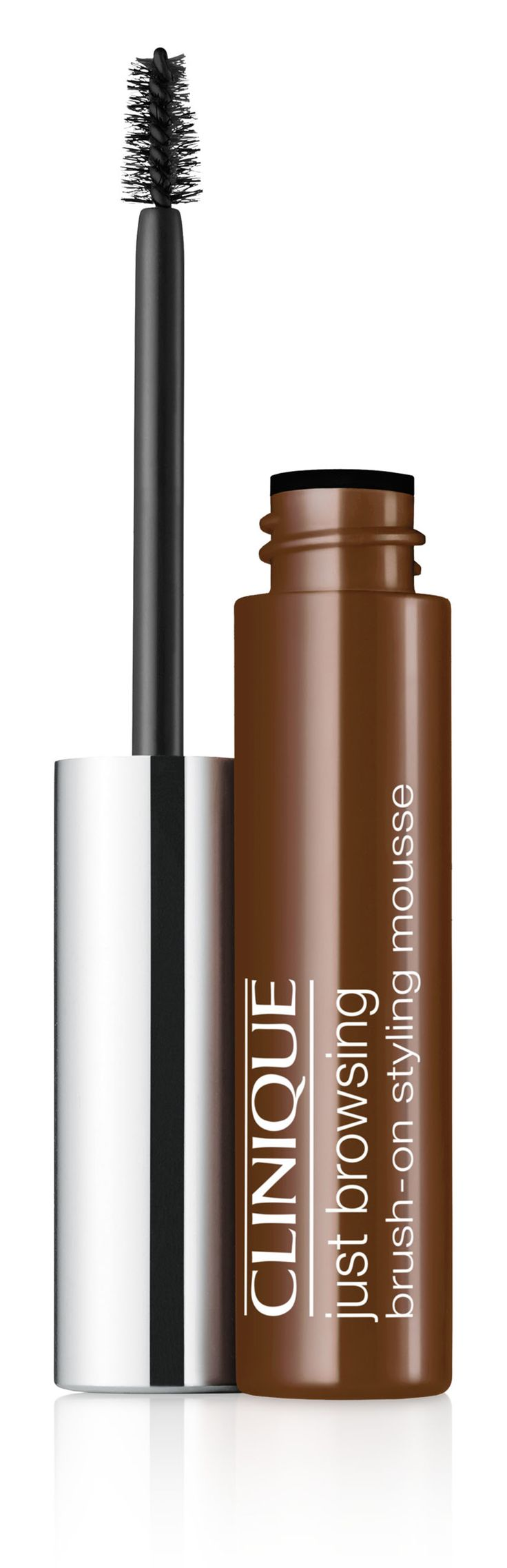 Fall Makeup Trend: Bold Brows. Get the look with Clinique Just Browsing Brush-On Styling Mousse in Deep Brown. 24-hour long-wearing brow mousse tints, tames, fills-in even the sparsest brows.
