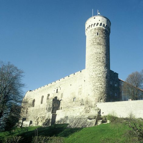 Toompea Castle, Tall Hermann's Tower built in 13th & 14th Century Currently houses the Estonian Parliament
