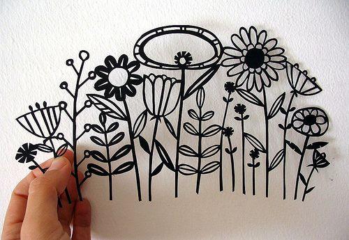papercut flowers by skinnylaminx, via Flickr