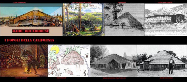 """Non sempre le strutture cerimoniali erano seminterrate, grandi capanne rituali costruite al livello del suolo, tipiche di alcune etnie, si sono diffuse con l'arrivo di nuovi culti, come  le """"Case Rotonde"""" del culto Bole-Maru."""