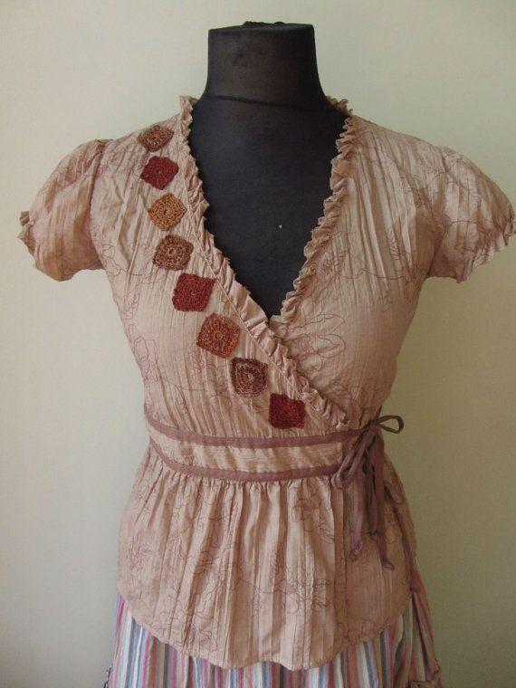 d2985a7d2d5a Damen Upcycled Kleidung   Hand gefärbt Wrap von GarageCoutureClothes,  damen   garagecoutureclothes  gefarbt