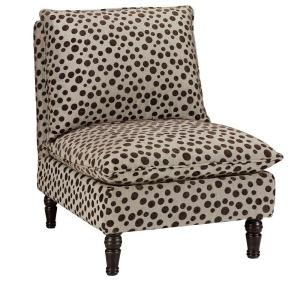 Lily Brown Jacquard Dots Accent Chair-Home Depot