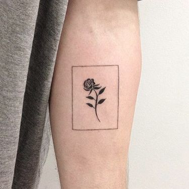 Tiny Rose Tattoo Idea