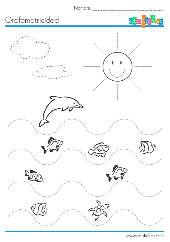 10 worksheets de grafomotricidad para imprimir. Hojas de trabajo