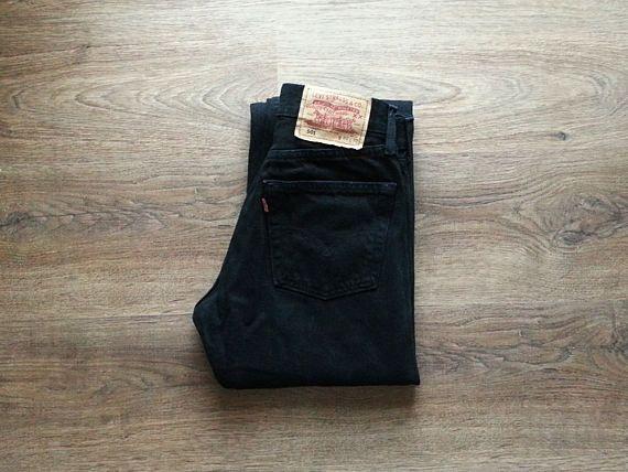 Levis 501 Jeans Black Denim High Waist Jeans Levis size W30