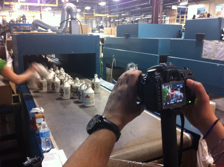 Web videos - Today is day 2 of filming for the new Ampak web promo video! Who wants maple syrup??