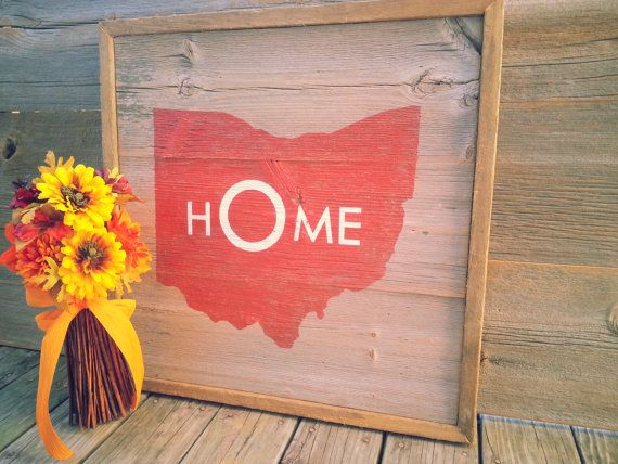OHIO STATE SIGN on Barn wood. Vintage modern and by RusstyBucket, Customizable, $40.00