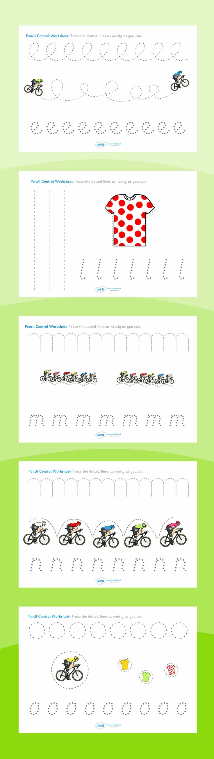 Tour de France- Pencil Control Worksheets