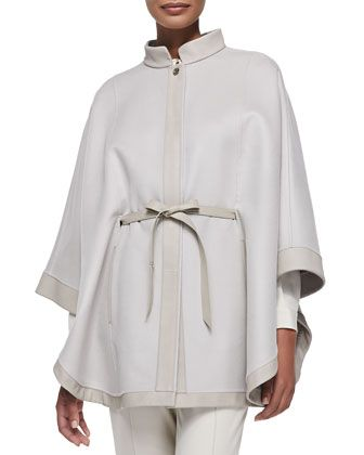 New Montpellier Cashmere Cape, Tan by Loro Piana at Bergdorf Goodman.