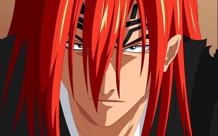 Télécharger fonds d'écran Renji Abarim, 4k, les personnages de l'anime, du manga, de l'eau de Javel