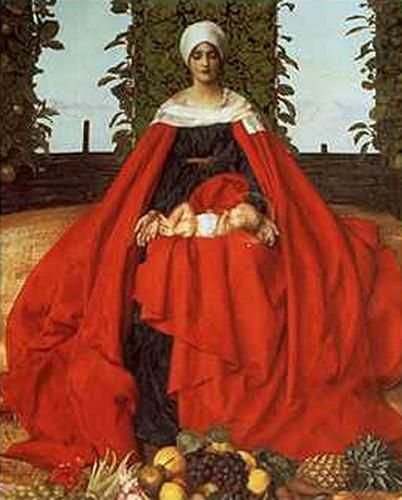 Our Lady of the Fruits of the Earth by Frank Cadogan Cowper :: artmagick.com