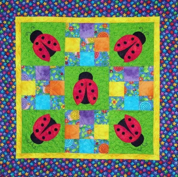 applique kids wall hanging quilt
