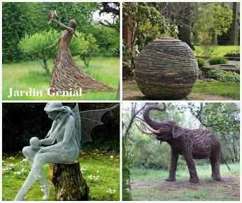 Садовые скульптуры и фигуры  являются изюминкой архитектурного ансамбля.   Устанавливать их можно в легкодоступных взору местах:  высокие скульптуры — в низинах,  более мелкие (фигуры) — на возвышениях.   #JardinGenial #ландшафтный_дизайн  #Озеленение #Освещение #Полив #Постройки_на_участке