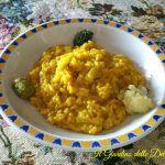 Riso+broccoli+cavolini+e+zafferano