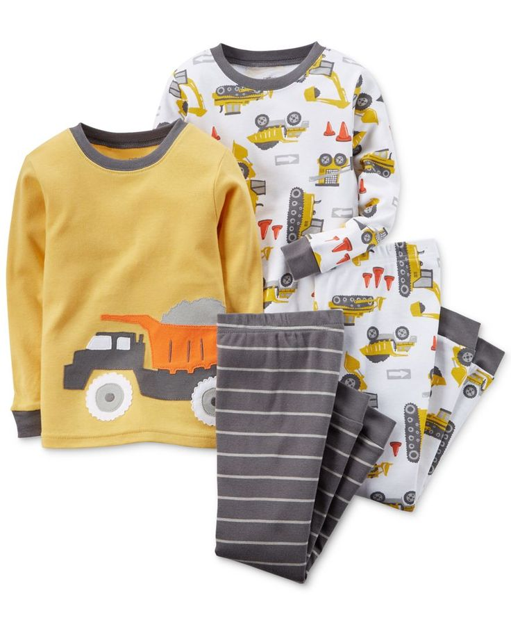 Carter's Baby Boys' 4-Piece Construction Pajamas