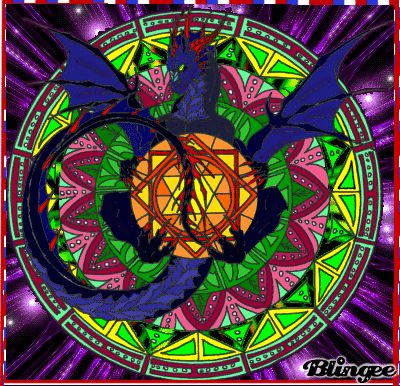 17 best images about my blingees on pinterest wolves - Mandala dragon ...