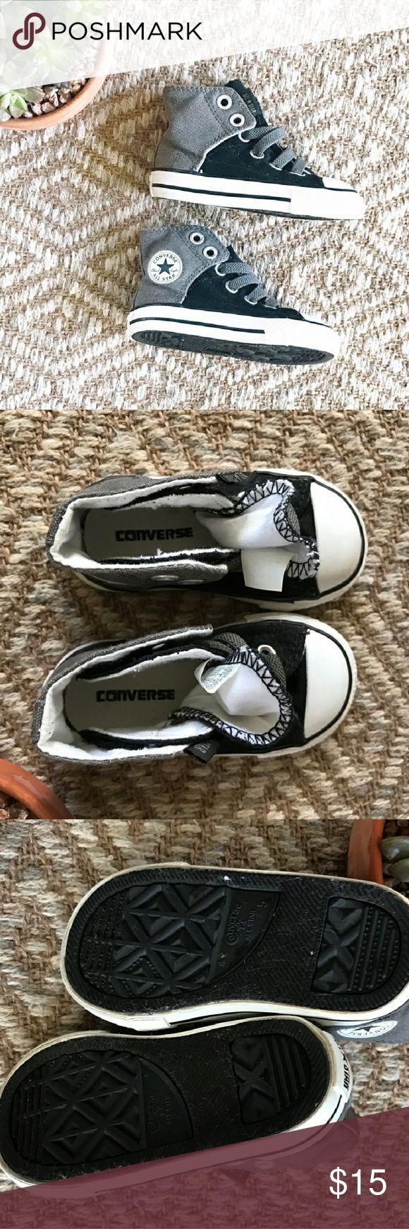 Boys Converse Sneakers! Your little man's first Converse. Very cool. Velcro closures. Like new size 5. Converse Shoes Sneakers