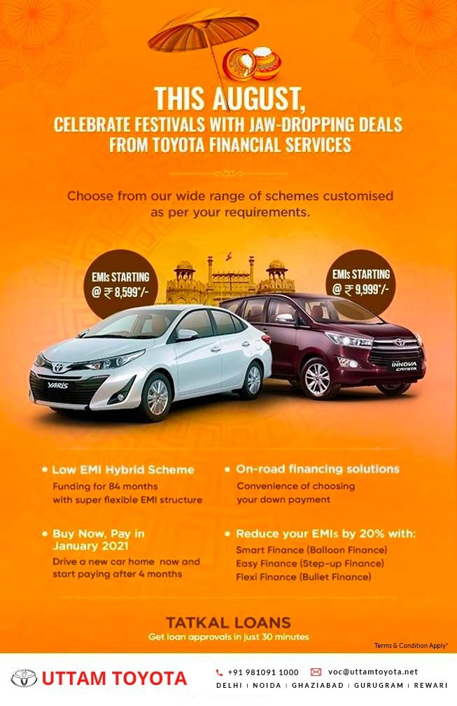 Festive Offers Financial Services Toyota Financial