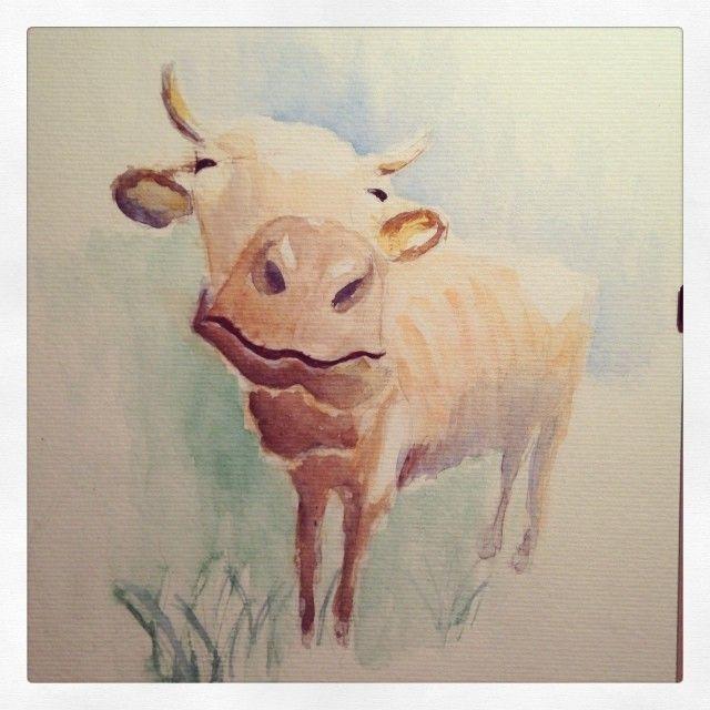 A happy cow.