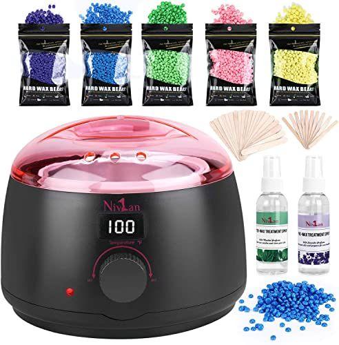 New Waxing Kit Women Nivlan Newest Hair Wax Warmer 5 Hard Wax