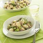 Gnocchi con asparagi e salsiccia