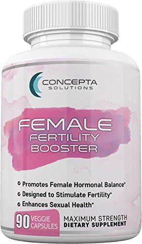 Concepta Female Fertility Booster (45 Day Supply) Support for Egg Quality, Hormonal Balance, Women's Sexual and Reproductive Health, Increase Libido - 90 Vegetarian Pills