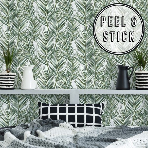 Our Best Wall Coverings Deals Palm Wallpaper Peel And Stick Wallpaper Wallpaper Roll