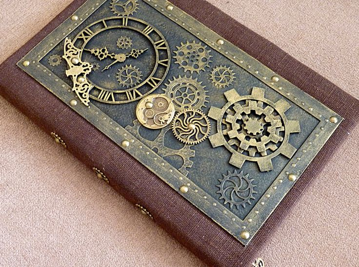 Steampunk book Steampunk notebook Steampunk art Old magazine Diary steampunk…#CBIZ_PLAN и #CBIZ_PLAN_SEP2016 #steampunk