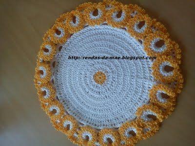 .: Base multiusos em crochet