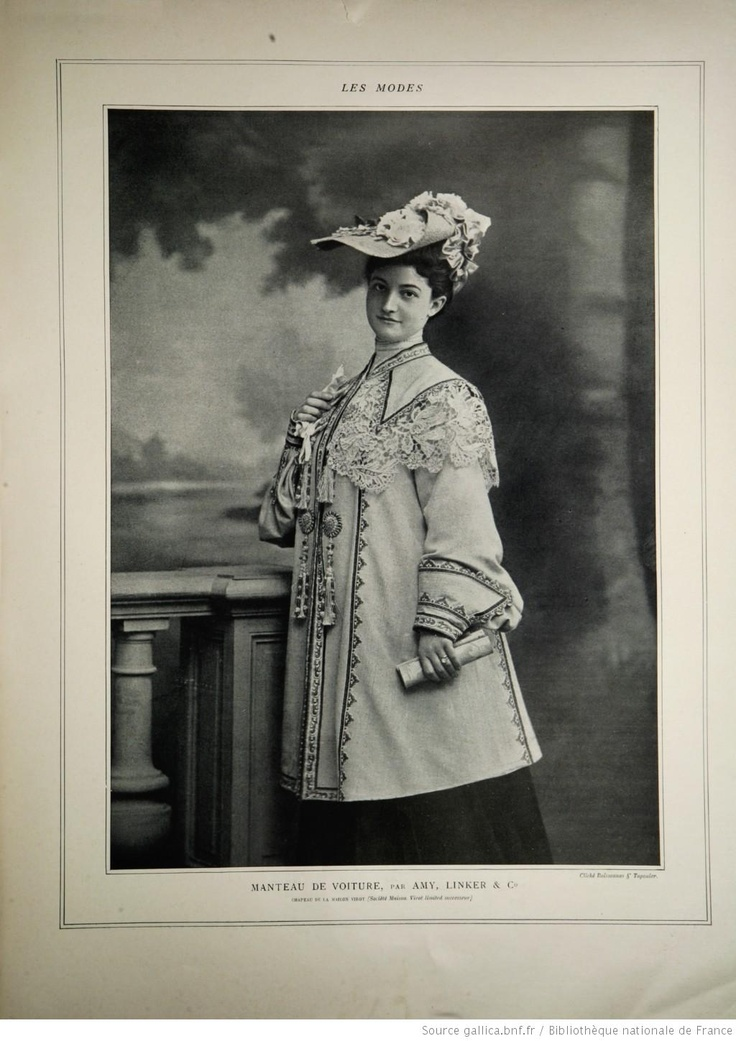 Modes (Paris) 1903  Manteau de Voiture par Amy, Linker & co