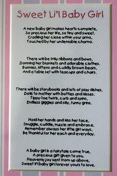 Baby Girl Poems and Sayings | And there's even a lovely poem...Aaawww...Tita Kit is so sweet!