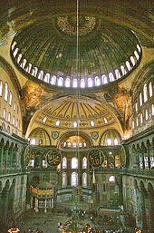 Basilique Sainte-Sophie (Constantinople) VIe siècle , actuelle Istanbul