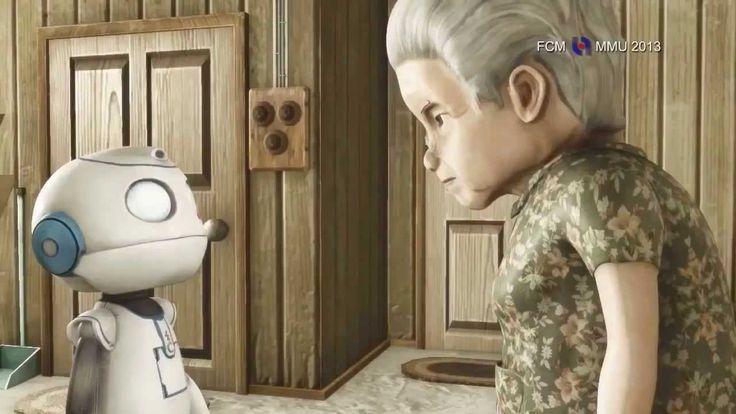 Cambio de Pilas. Una anciana que vive sola. Un día recibe un paquete por parte de su hijo que vive en la ciudad y por motivos de trabajo no puede visitar a su madre por el momento. Sin embargo en el paquete ahí un regalo tremendo: Un robot domestico. Hecho especialmente para atender todas las tareas del hogar. Con el tiempo este robot y la vieja mujer desarrollaran una amistad que traspasara la frontera entre la vida y la muerte. Una amistad que no terminara cuando se terminen las pilas.
