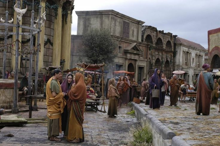 What life on the streets of ancient Rome may have looked like.