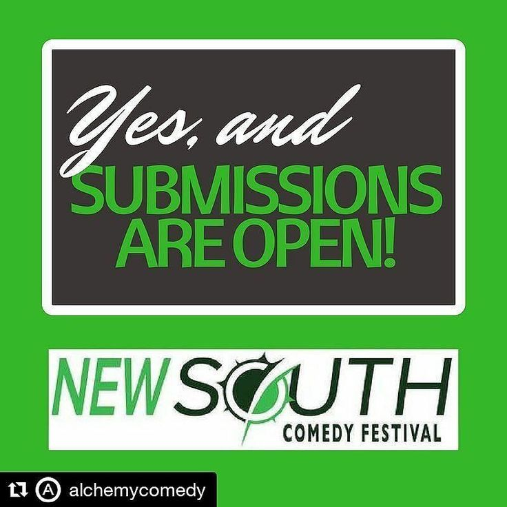 #Repost @alchemycomedy  The submission period for the 4th New South Comedy Festival presented by Alchemy Comedy Theater (Nov 1-11) is officially OPEN!! We want to see your Improv Sketch Stand-Up and Musical Comedy bits here in beautiful Greenville SC!! Submit online: newsouthcomedy.com join us for the biggest New South Fest yet!! | #LOLGVL #upstatesc #Spartanburg #Greenvillesc #yeahthatGreenville #yeahthatspartanburg #hubcity #sparklecity #lovewhereyoulive #spartanburgrocks…