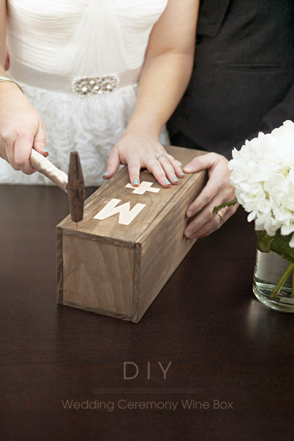 Use this very detailed, step by step tutorial to create your personalized wedding ceremony wine box ~ such a fun new tradition!