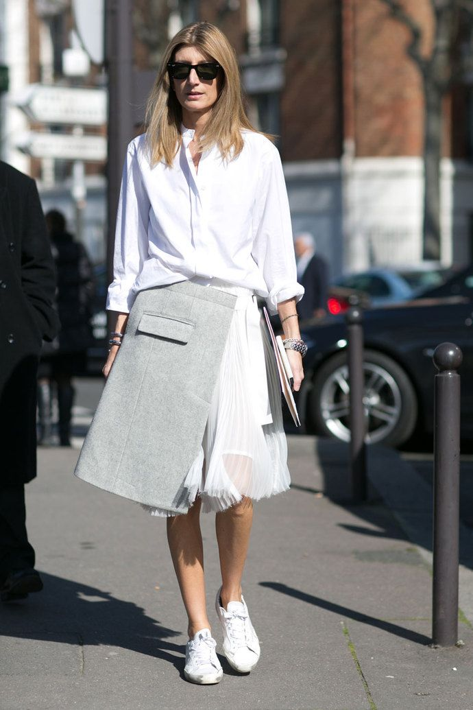 great skirt. #SarahRutson in Paris.