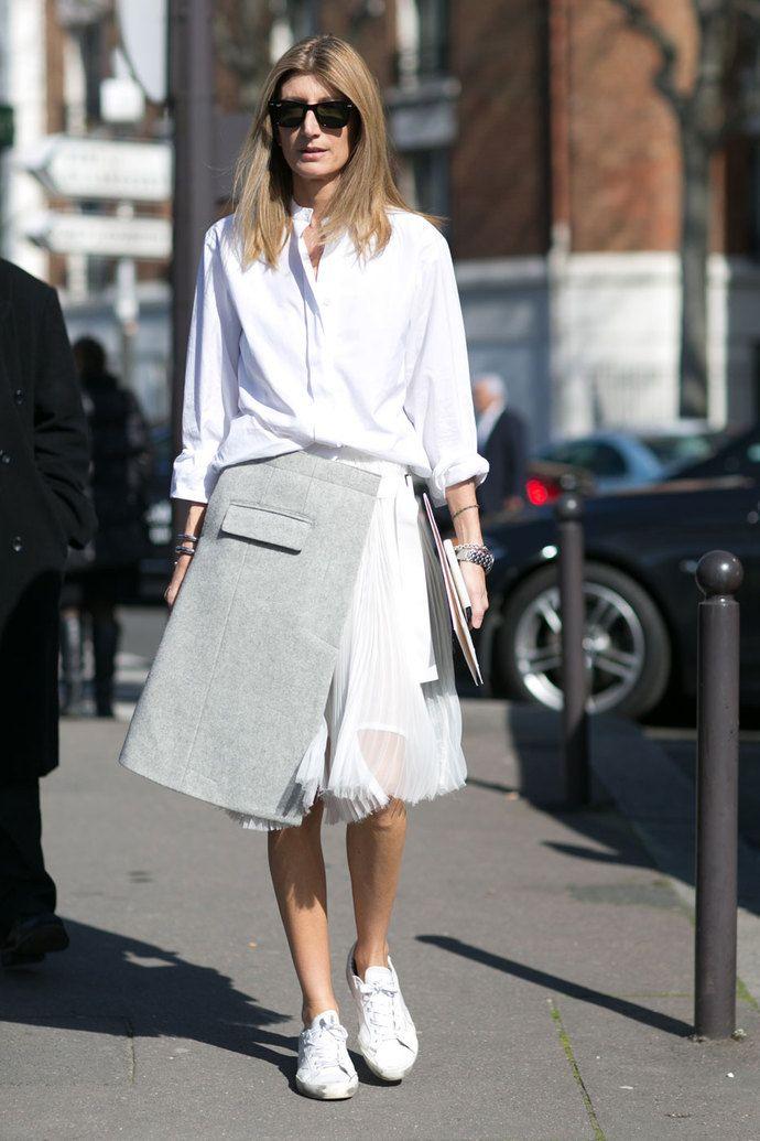 great skirt. #SarahRutson in Paris.