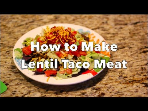 How to Make Lentil Taco Meat: THRIVE Vegan Cooking Classes - YouTube