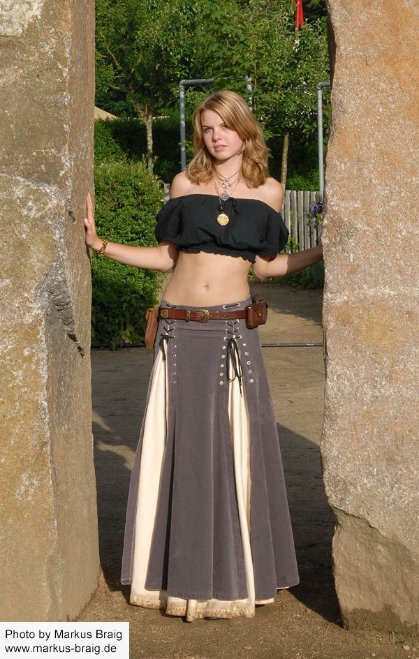 I'd wear a real shirt with this skirt, but so cool.                                                                                                                                                                                 Mais