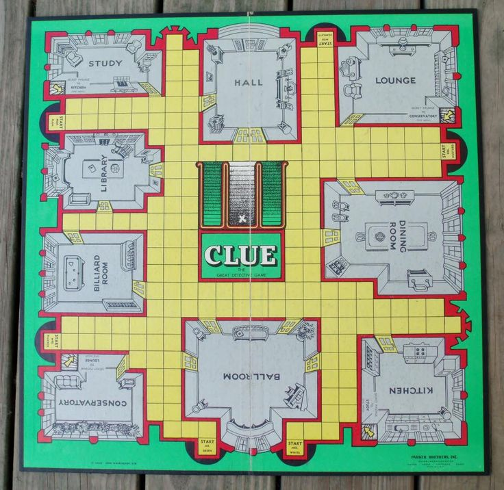 1949 Clue Game Board by PaperCreationsbyDeb on Etsy https://www.etsy.com/listing/158587170/1949-clue-game-board