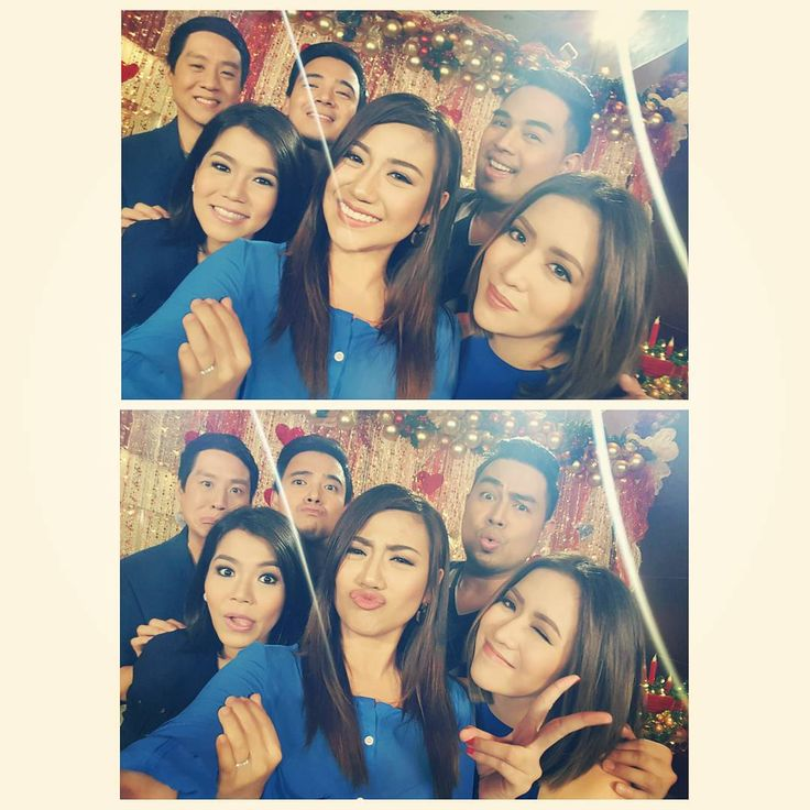 """These are the singers of ASAP: Richard Poon, Juris Fernandez, Erik Santos, Morissette Amon, Jed Madela, and Angeline Quinto taking a formal selfie and a wacky selfie during the taping of the 2015 ABS-CBN Christmas Station ID, """"Thank You for the Love!"""" #ThankYoufortheLove #ABSCBNChristmasStationID #RichardPoon #JurisFernandez #ErikSantos #MorissetteAmon #JedMadela #AngelineQuinto"""