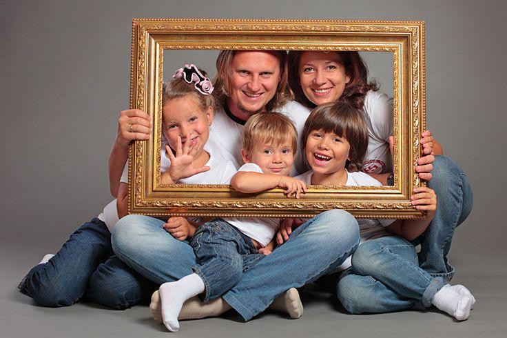 семейная фотосессия большой семьей