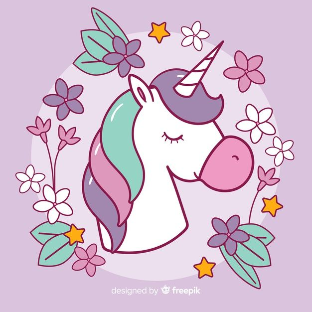 Download Colorful Flat Design Unicorn Background For Free Unicorn Backgrounds Unicorns Vector Illustrations And Posters
