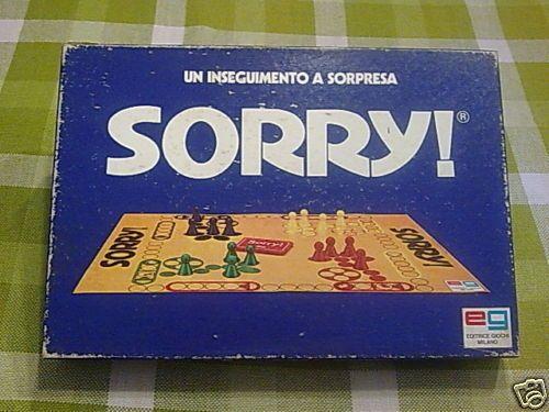 Gioco in scatola anni 70 * SORRY * EDITRICE GIOCHI
