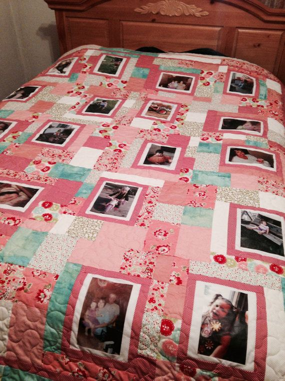 Custom Picture Memory Quilt  Queen by laceymills on Etsy