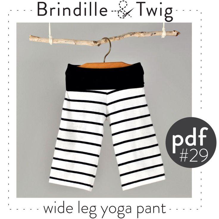 Baby wide leg yoga pants pdf pattern // easy photo tutorial, sizes Preemie-6T -Pattern 29 by brindilleandtwig on Etsy https://www.etsy.com/listing/191638259/baby-wide-leg-yoga-pants-pdf-pattern