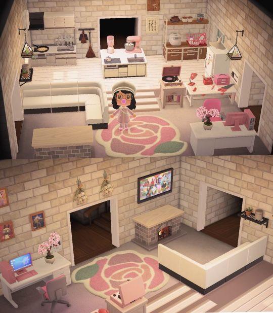Animal Crossing New Horizons Living Room And Kitchen Set Up Animal Crossing 3ds Animal Crossing New Animal Crossing